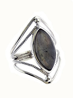 Marquee Labradorite Sterling Ring