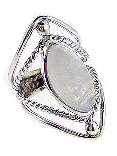 Marquee Rainbow Moonstone Sterling Ring