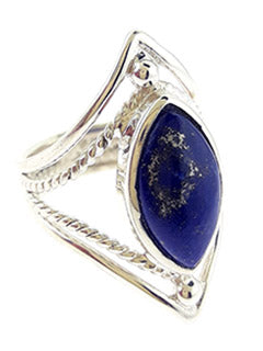 Marquee Lapis Lazuli Sterling Ring