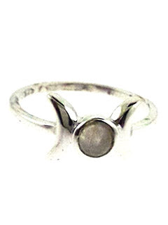 Triple Goddess Moonstone Sterling Ring