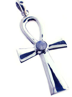 Large Ankh 1.5 inches with Moonstone Pendant