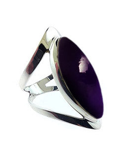 Open Band Sterling Ring with Amethyst