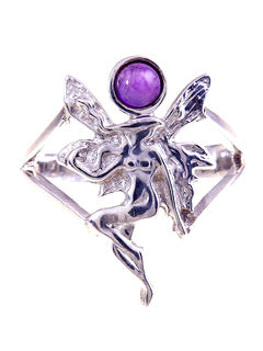 Titania Fairy Amethyst Sterling Ring