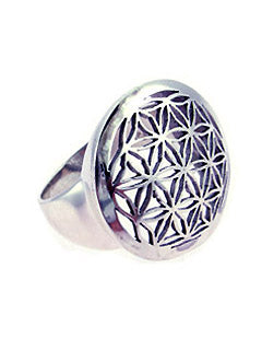 Flower of Life Sterling Silver Ring