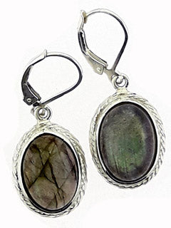 Labradorite Sterling Drop Earrings