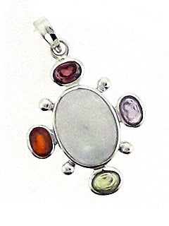 Multi-Stone 4 Direction Pendant