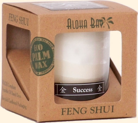 Metal - Success Feng Shui Jar Candle - Cast a Stone