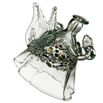The Angel of Peace hand blown Art Glass Ornament - Cast a Stone