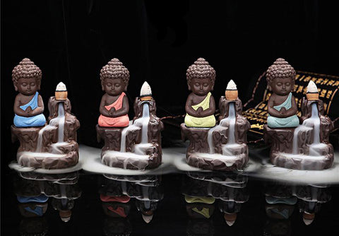 New! Buddha Backflow Incense Burner - Cast a Stone