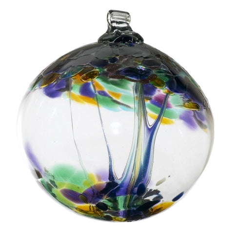 "Tree of Enchantment Ball -Blessings 6"" hand blown Art Glass Ornament"