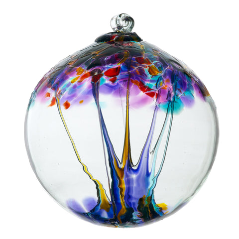 "Tree of Enchantment - Creativity 6"" hand blown Art Glass Ornament"
