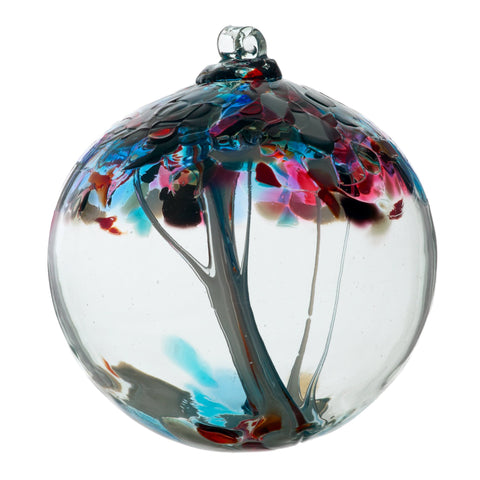 "Tree of Enchantment Ball -Freedom 6"" hand blown Art Glass Ornament"