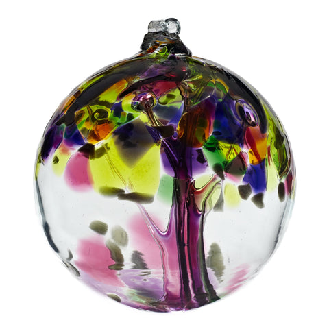 "Tree of Enchantment Ball -Grace 6"" hand blown Art Glass Ornament"