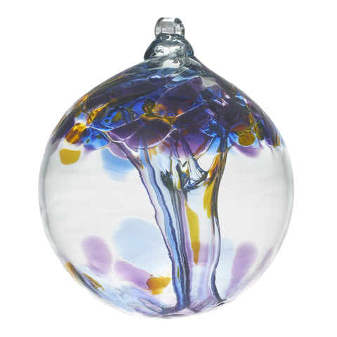 "Tree of Enchantment - Knowledge  6"" hand blown Art Glass Ornament"