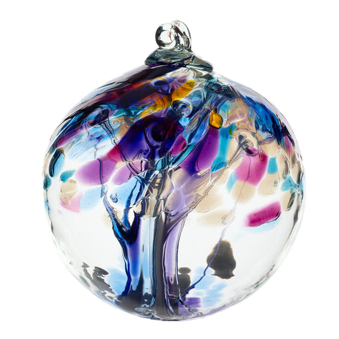 "Tree of Enchantment Ball -Mindfulness 6"" hand blown Art Glass Ornament"