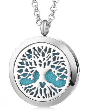 Tree of Life Aromatherapy Locket Pendant - Cast a Stone