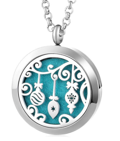 Christmas Ornaments Aromatherapy Locket Pendant