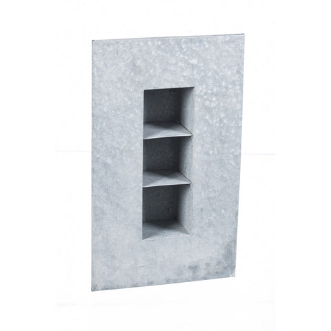 Aged Zinc 3 Pocket Wall Planter - Cast a Stone