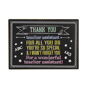 Impressions Blackboard Style Wall Plaque - Teacher Assistant