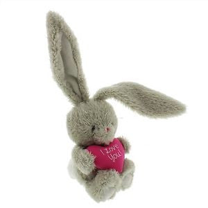 "Bebunni Rabbit Medium with Heart 8"" - I Love You"