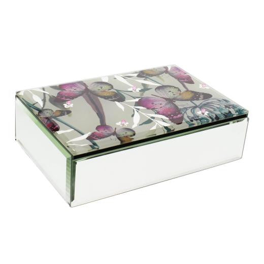 Hestia Butterfly Collection Oblong Jewellery Box