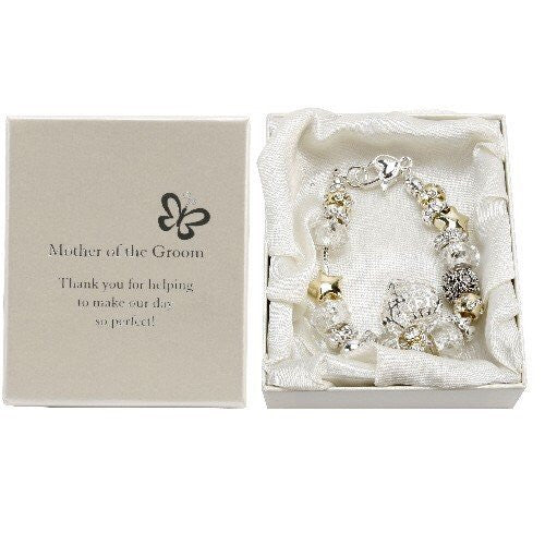 Amore Silver/Gold Bead Charm Bracelet - Mother of the Groom