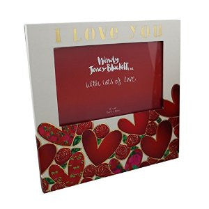 Wendy Jones-Blackett Photo Frame & Keepsake Box 'I Love You'