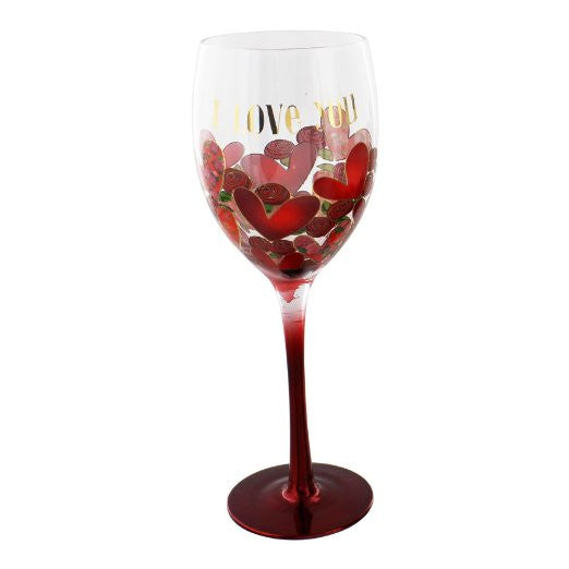 Wendy Jones Blackett Collection Wine Glass 'I Love You'