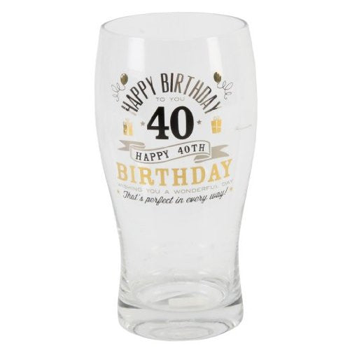 Signography Birthday Pint Glass 40