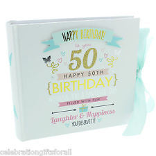 "Signography Birthday Girl Photo Album 4"" x 6"" 50th Birthday"