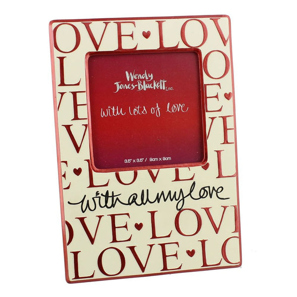 "Wendy Jones-Blackett Resin Frame 3.5"" x 3.5"" All My Love"