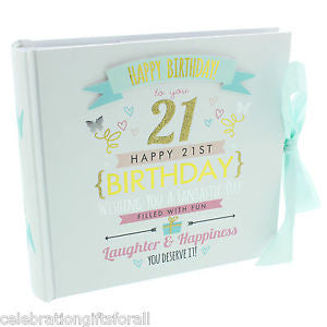 "Signography Birthday Girl Photo Album 4""x6"" - 21st Birthday"