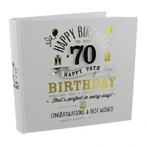 "Signography Birthday Boy Photo Album 4"" x 6"" - 70th"