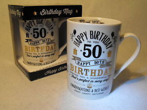 Signography Birthday Silver & Gold Design - 50