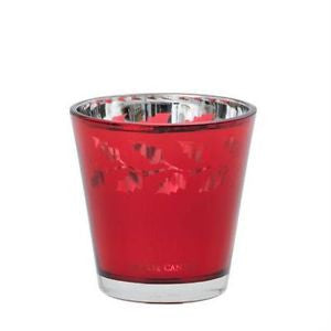 HOLLY VOTIVE HOLDER RED