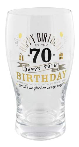 Signography Birthday Pint Glass 70