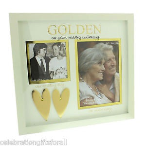 Wendy Jones-Blackett Double Frame Golden Anniversary