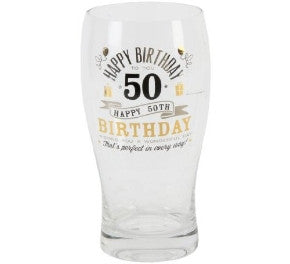 Signography Birthday Pint Glass 50