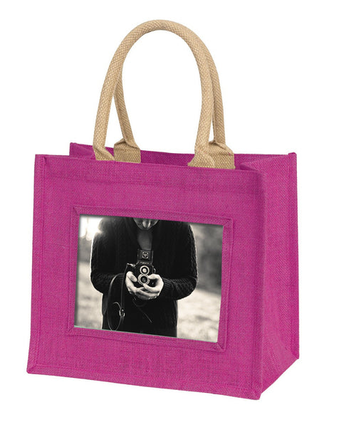 Instant Picture Jute Bag-Pink