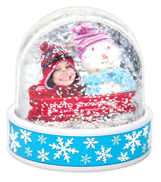 Instant Picture Snow Globe-Blue