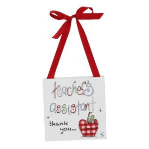 Tracey Russell P/wrap Wall Plaque 12x12cm-Teachers Assistant