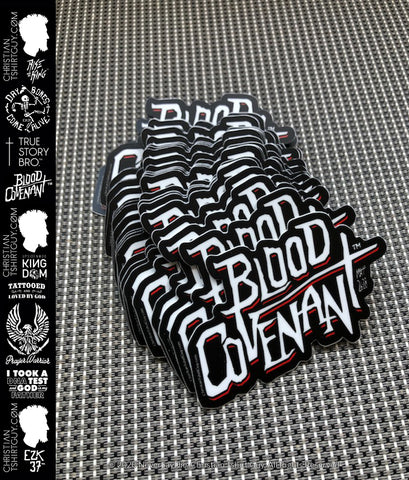 BLOOD COVENANT™ - MATTHEW 26:28 |  Decal Car Sticker BOGO