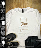Jesus lives here™ - United State of Alabama | Christian T-Shirt