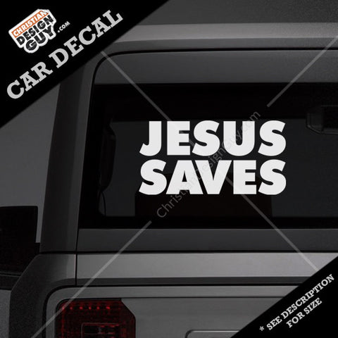 Jesus Saves | Christian Decal Car Sticker