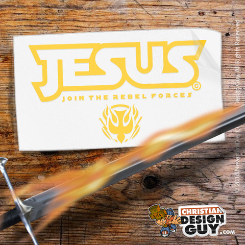 Jesus Join the Rebel Forces | Christian Decal Car Sticker