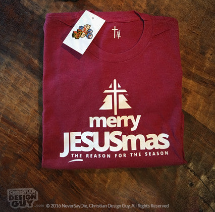 Christian Christmas.Merry Jesusmas Christmas Holiday Unisex Christian T Shirt