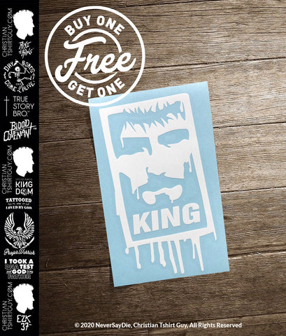 Rise with the KING Spray Paint V2 | Christian Decal Car Sticker BOGO