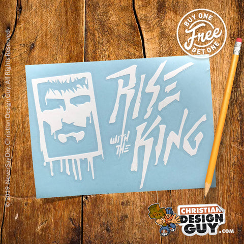 Rise with the KING Spray Paint V3 | Christian Decal Car Sticker BOGO