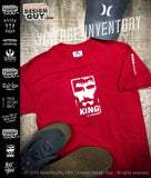 Rise with the King™ - King Logo Distressed Red | Vintage Christian T-Shirt