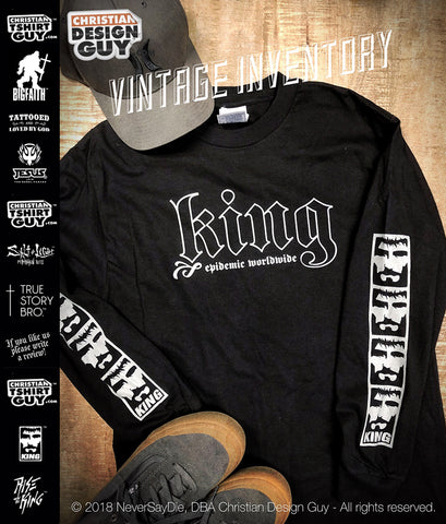 Rise with the King™ - Epidemic Worldwide | Christian Long Sleeve T-shirt